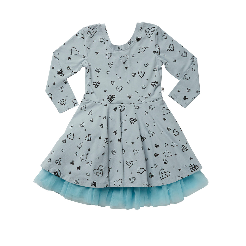 ELOISE DRESS - DUSTY BLUE