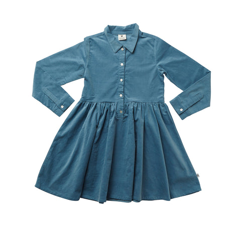 NO DRAMA CLUB SWEATER DRESS - NAVY ACID WASH