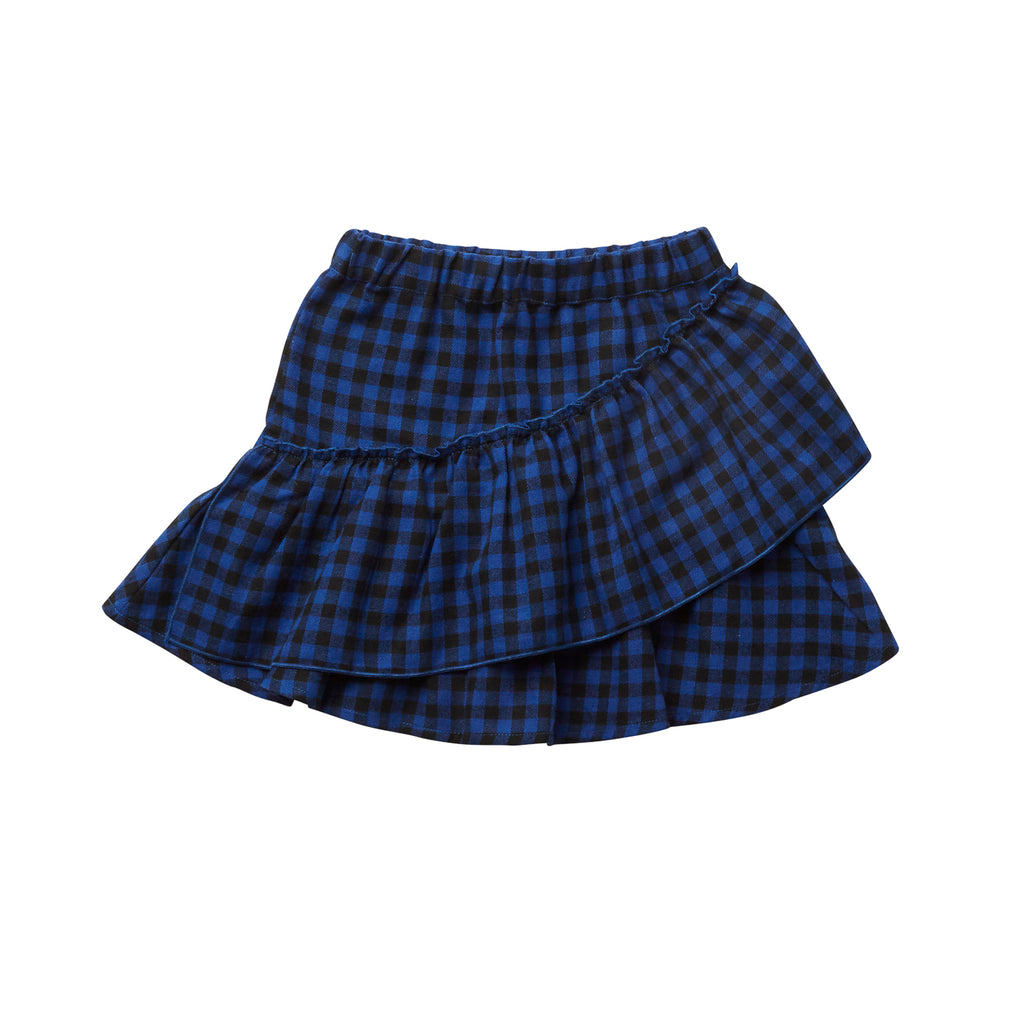 ALL CHECKED SKIRT - NAVY/BLACK CHECK
