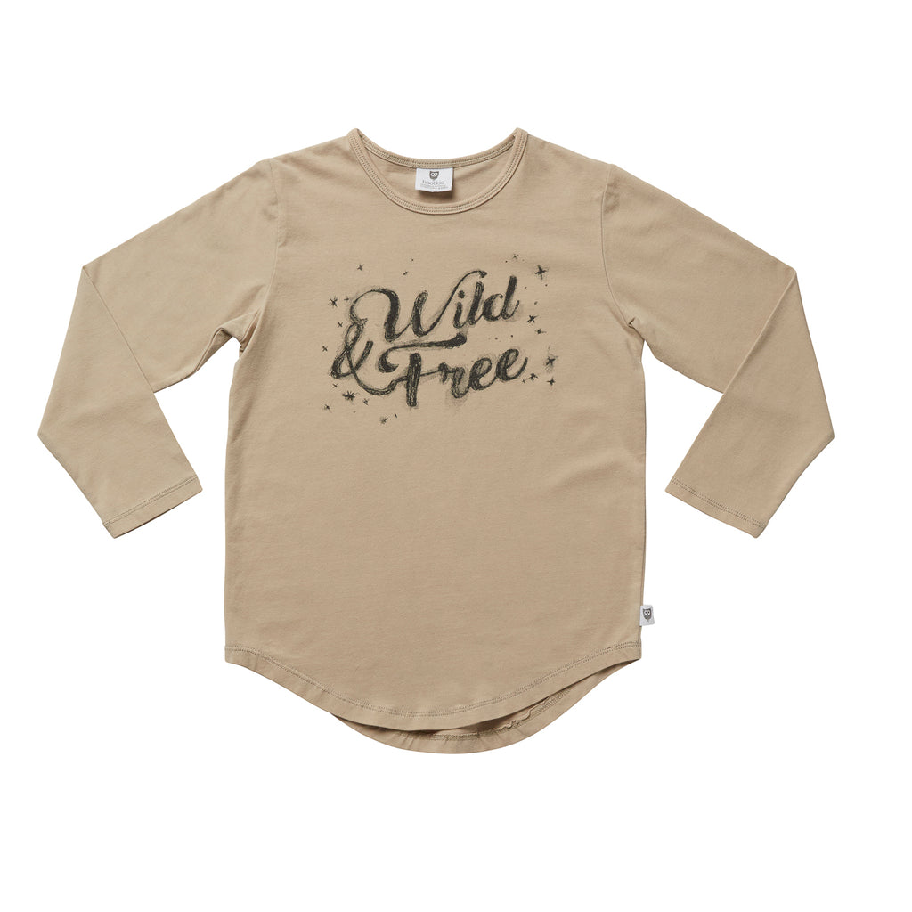 WILD AND FREE TEE - SAND