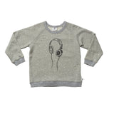 HEADPHONE DELUXE SWEATER - GREY MARLE