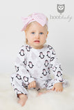 HOOT BABY GIRL - LONG SLEEVE ONESIE - PENGUIN