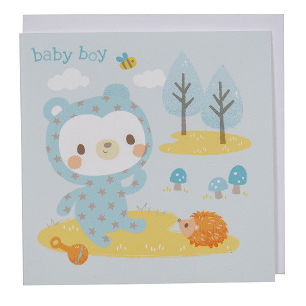 Tiger Tribe - Greeting Card Baby Boy Bear
