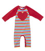 MY RAINBOW ROMPER - RAINBOW MINI STRIPE