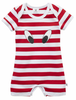 LOOK HERE ROMPER - RED/WHITE STRIPE