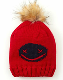 KEEP GRINNING BEANIE - RED
