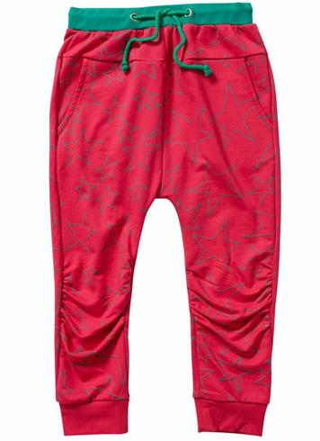 SHINE BRIGHT HAREM PANT - HOT PINK/JADE