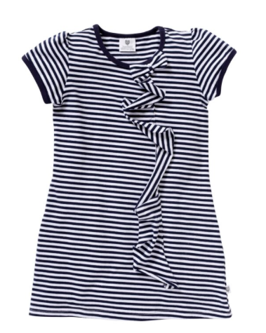 FALL FOR YOU DRESS - NAVY MINI STRIPE