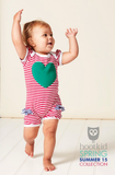 SUMMER LOVE ROMPER - HOT PINK MINI STRIPE