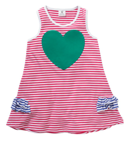 SUMMER LOVE DRESS - HOT PINK STRIPE