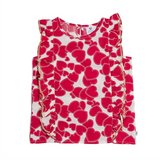 HEART FRILL FRONT TOP - RED HEART