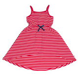 ISLAND DRESS - RED STRIPE