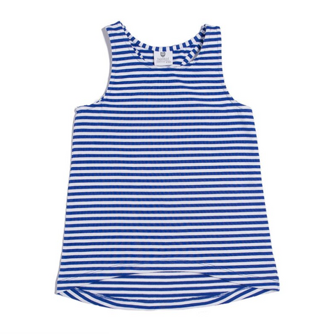 TUNE IN DRESS - COBALT/WHITE STRIPE
