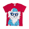 LOOPY LION TEE - RED