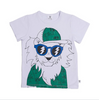 LOOPY LION TEE - WHITE