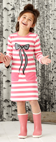 LOVE YOU LOTS ONESIE - HOT PINK STRIPE