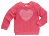 VALENTINE SWEATER - HOT PINK LUREX STRIPE