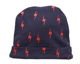 LET'S BOLT BEANIE - NAVY PRINT
