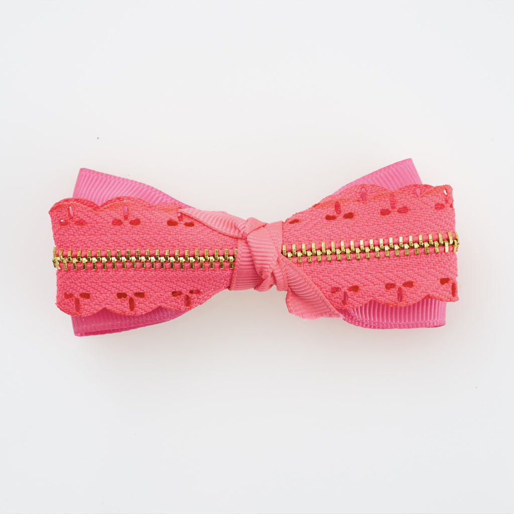 Zip Me Up Hairclip - Neon Pink