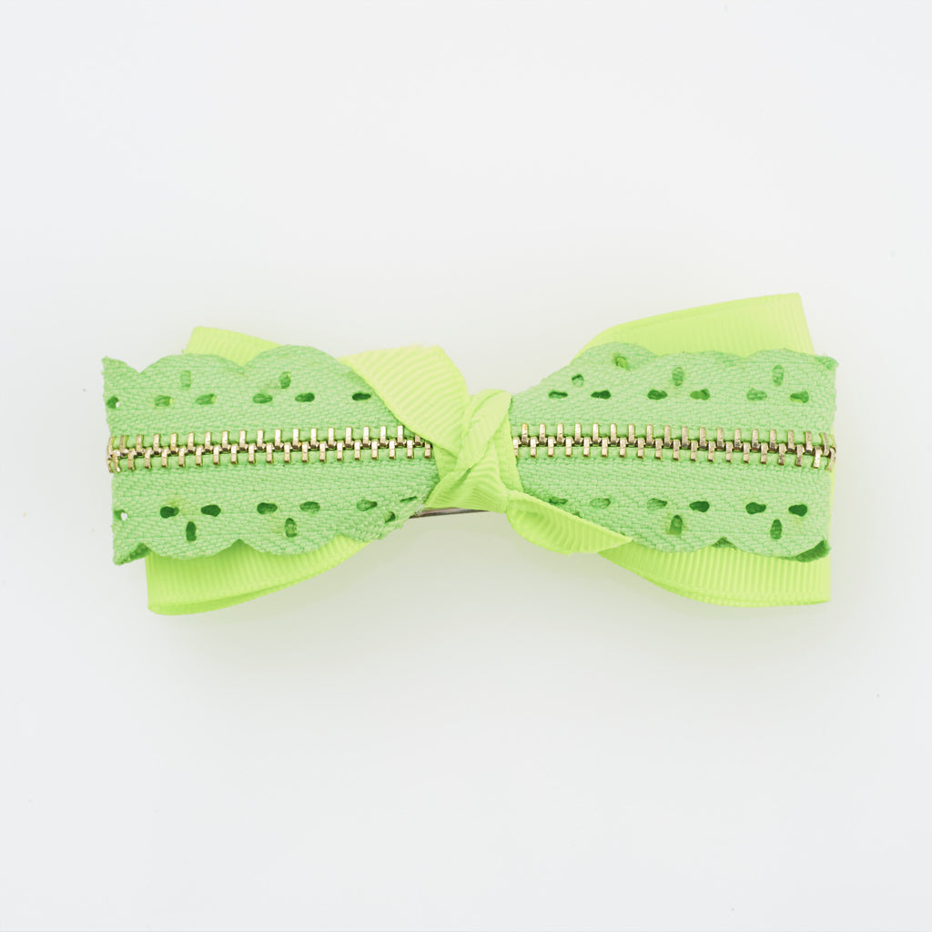 Zip Me Up Hairclip - Neon Green