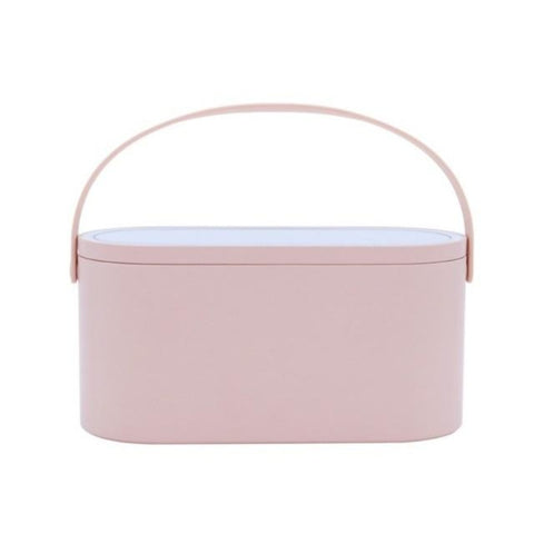 Bucket - Portable Makeup Case Bag With Led Mirror