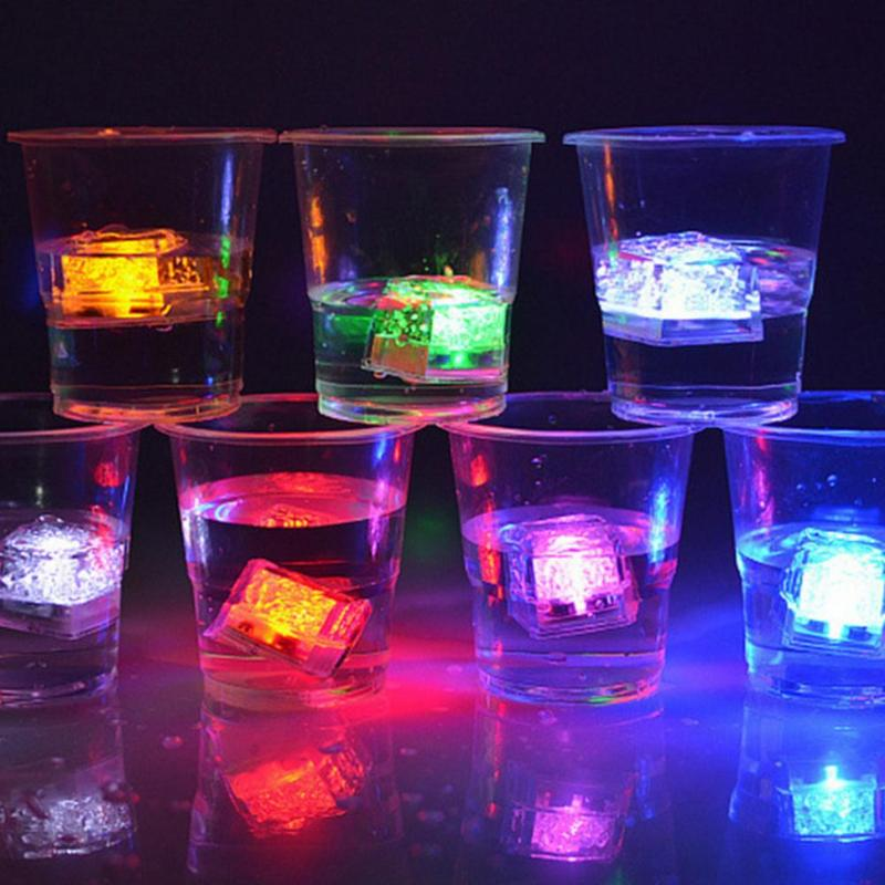 DIY Colorful LED Flash Ice Cubes (Pack of 12)-LED Flash Ice Cubes-Magnifar