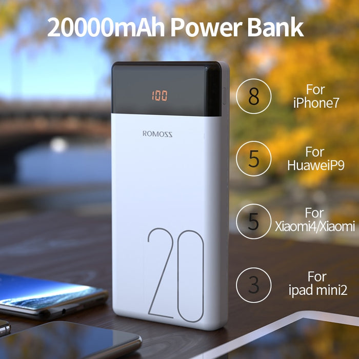 ORIGINAL Romoss PowerBank 20000mAh-Power Bank-Magnifar