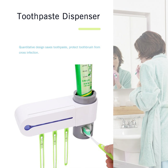 Ultraviolet Toothbrush Dispenser Holder-Toothbrush & Toothpaste Holders-Magnifar