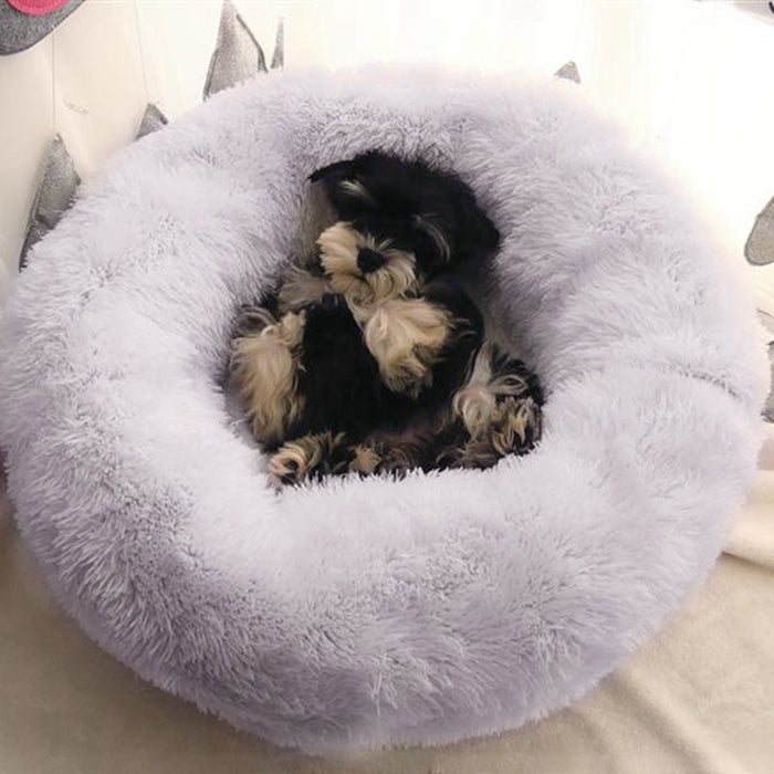 Cozy Donut Cuddler - Luxury Dog and Cat Bed-Pet Cuddler Bed-Magnifar