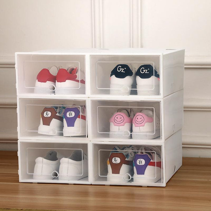 Drawer Type Shoe Box (6pcs)-Storage Drawers-Magnifar