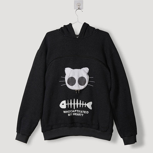 Sweatshirt Animal Pouch Hood Tops-Sweatshirt Animal Pouch Hood-Magnifar