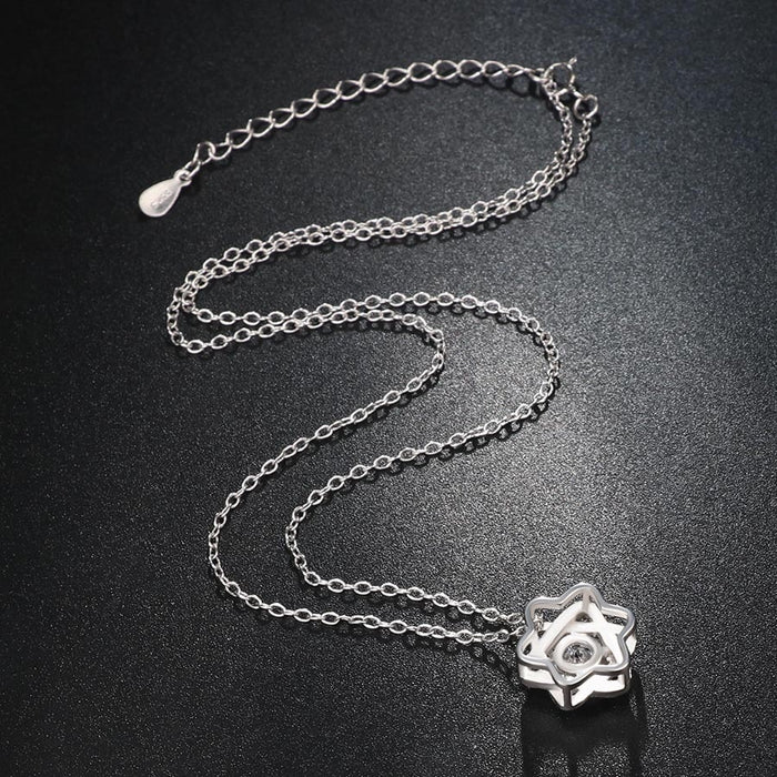 Sterling Silver Star Necklace-Sterling Silver Star Necklace-Magnifar