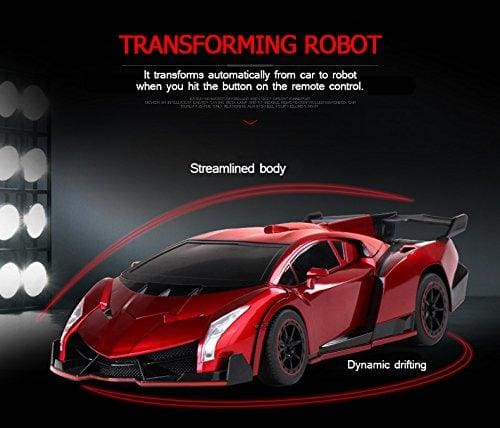2 In 1 Rc Remote Controlled 4 Channel Transformer Toy Car