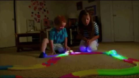 Glow In The Dark Magic Race Track For Toy Cars