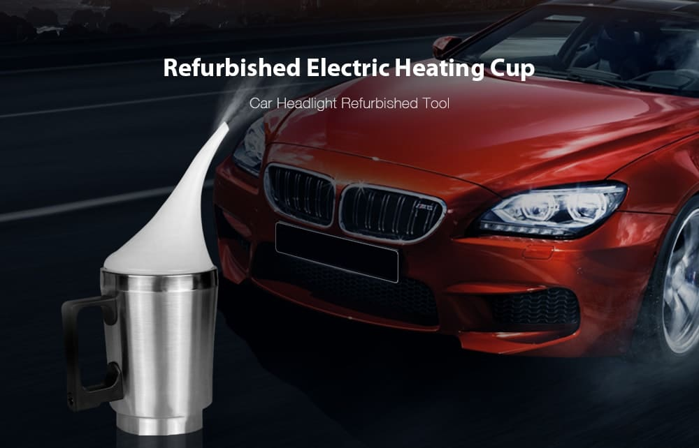 Car Headlight Refurbished Heating Cup- Silver