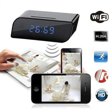 Bedside Clock Video Camera With Night Vision And Motion Detection