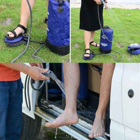 Best Portable Inflatable Outdoor Hot Water Camping Shower And Bag