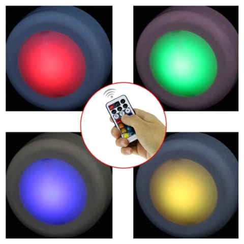 Color-changing remote-controlled LED wireless lights