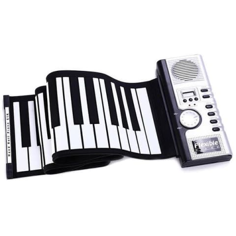 piano key board on a white background