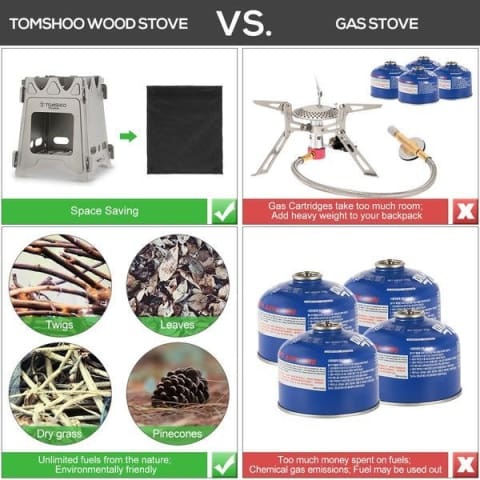 environmental comparison between portable outdoor stove and classical stove