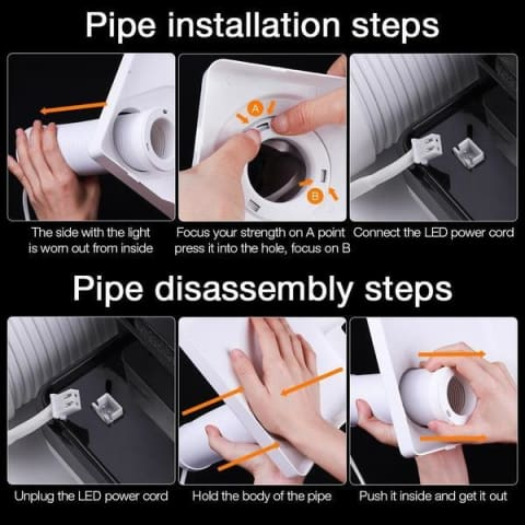 nail dust pipe collector