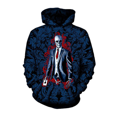 Skeleton Skull in Suit Hoodie