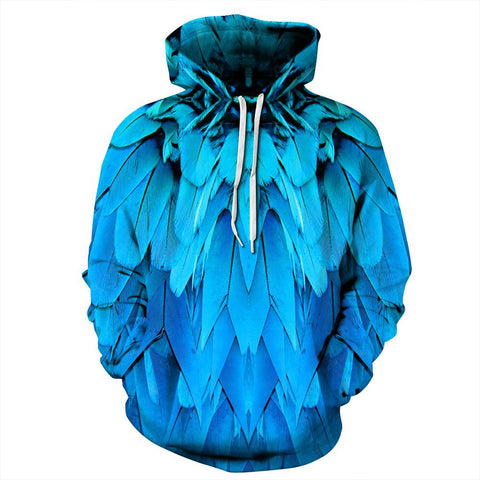 Blue Feathers Hoodie