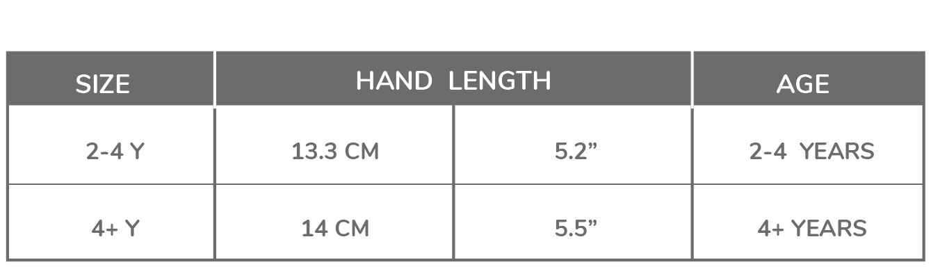 Sizing for Youth Mitts