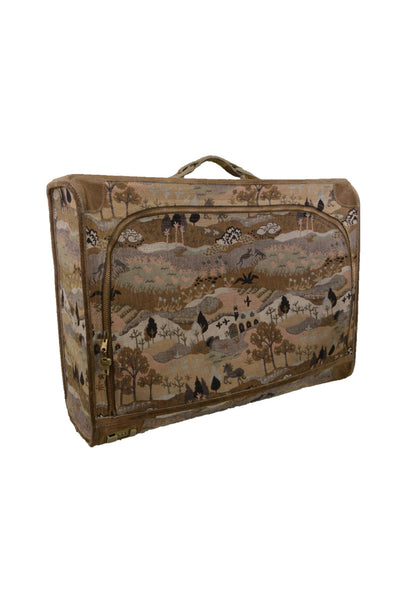 Vintage 1970s Tapestry Suitcase