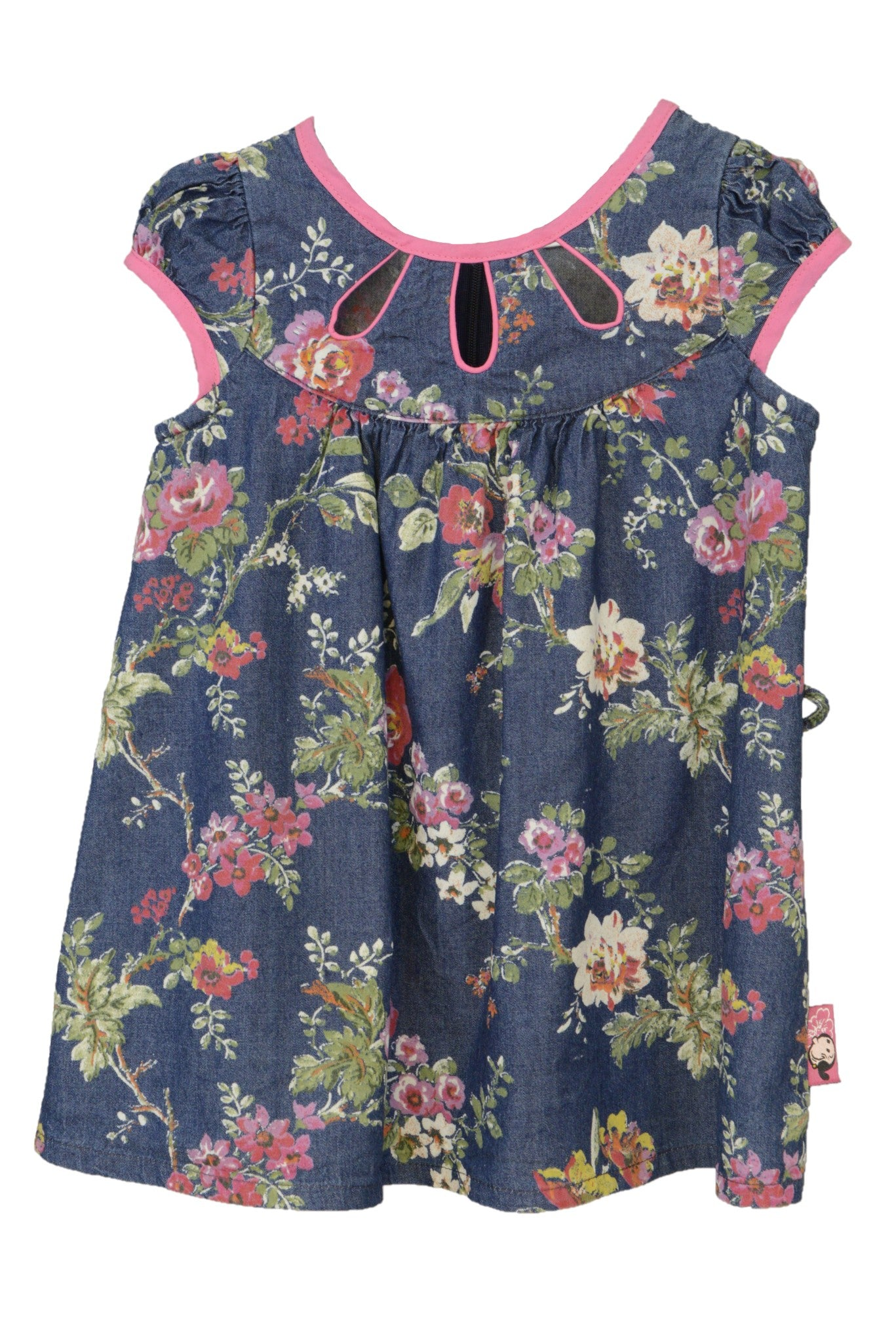 Baby Popeye navy and floral baby dress