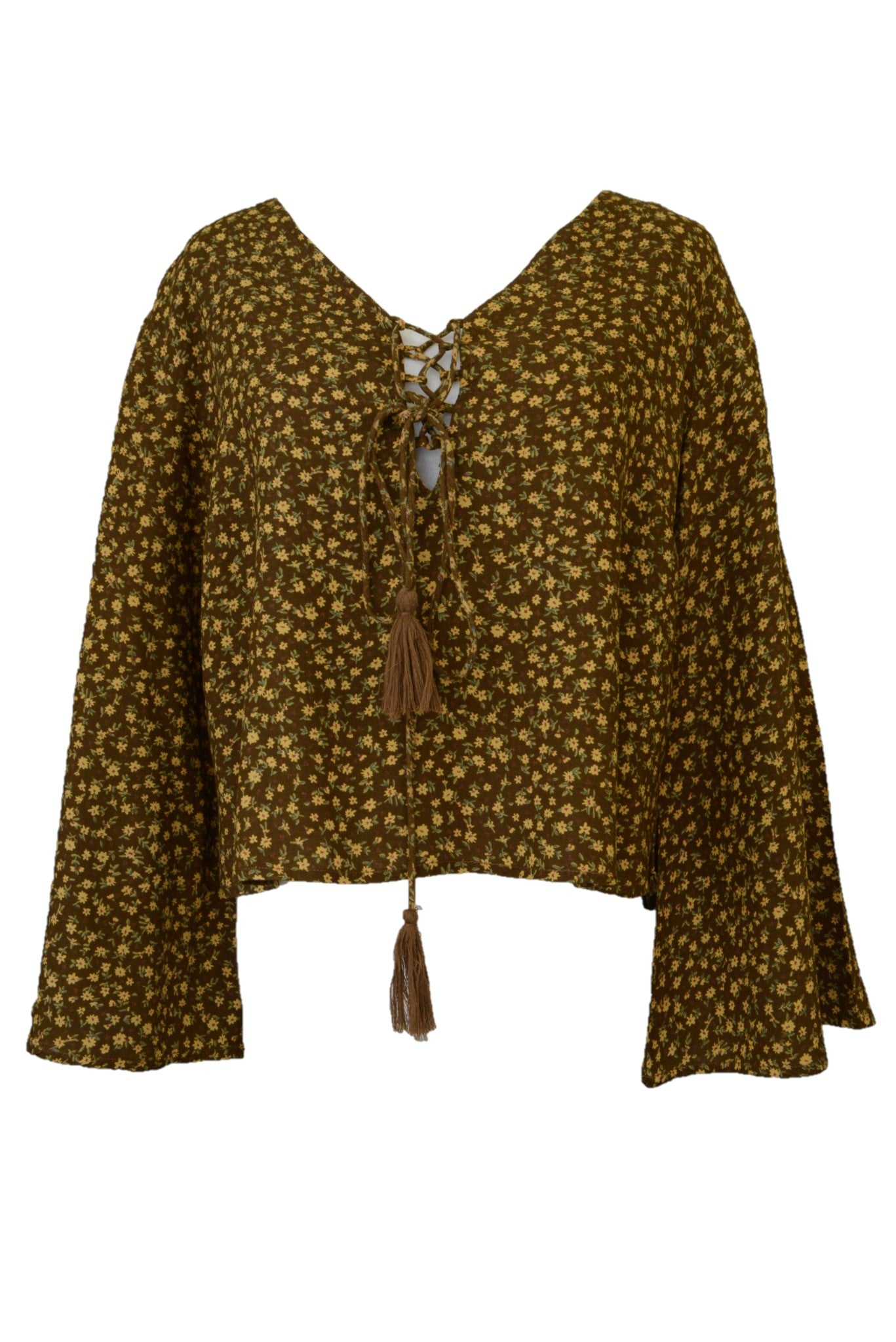 Tree of Life Bell Sleeve Top - Size L