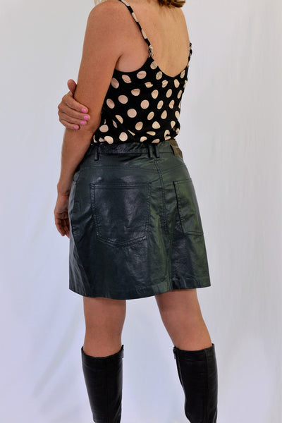 Pull and Bear Forest Green Mini Skirt SIze L - back