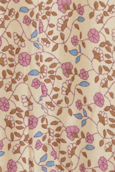 Fabric, Tree of Life dress, pink, brown and blue floral.