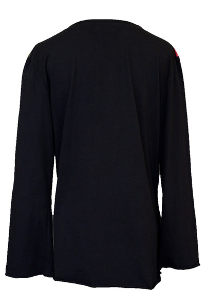 Rasaleela women's long-sleeved cotton top, back view